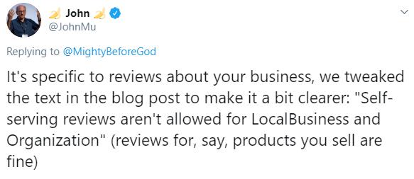 john mu twitter rich reviews update