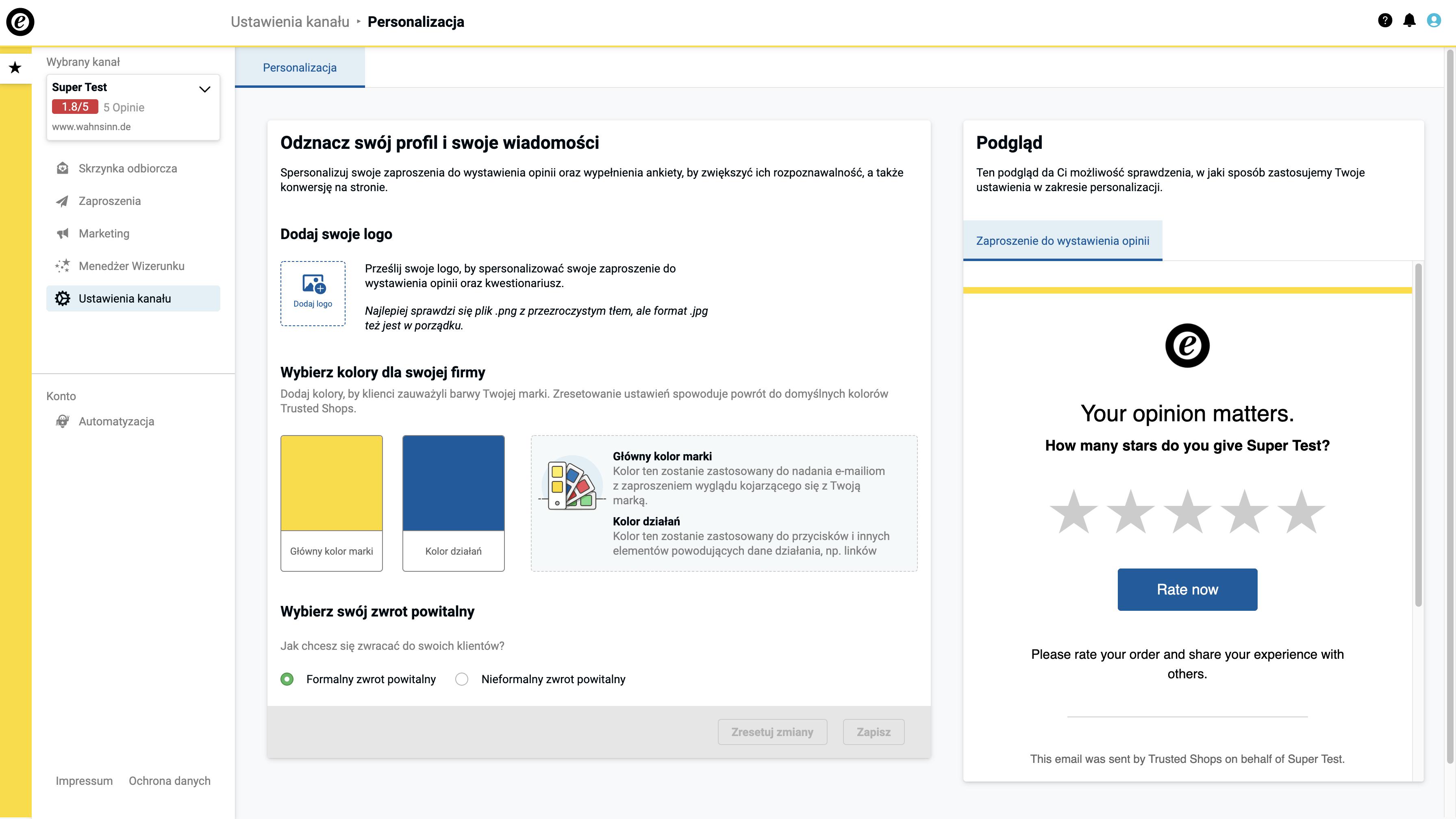 PL_Screenshot Personalisation