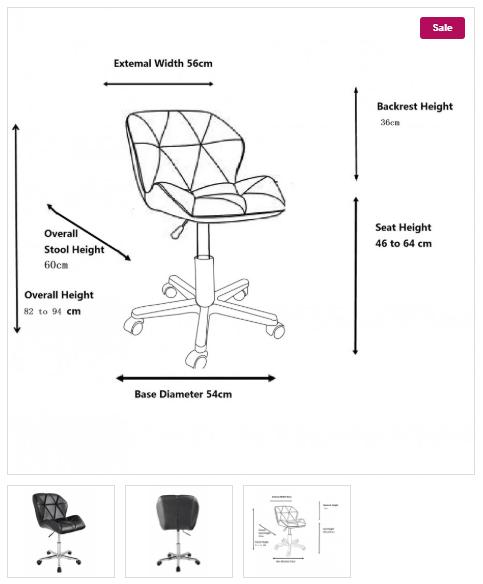 Zdjęcie produktu wymiary krzesła