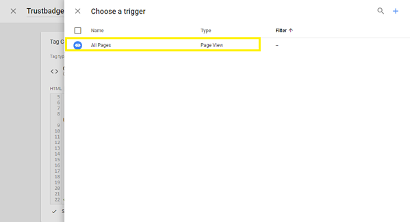 Integracja Trustbadge w Google Tag Manager 4